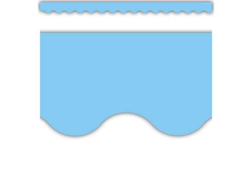 Teacher Created Resources Light Blue Scalloped Border Trim