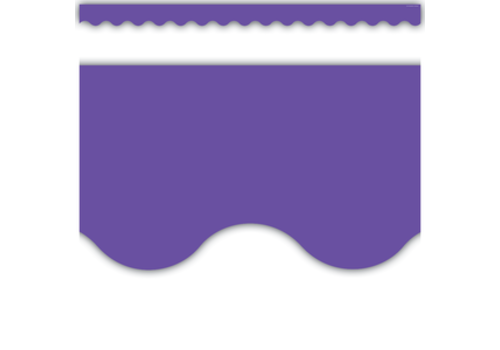 Teacher Created Resources Ultra Purple Scalloped Border Trim*