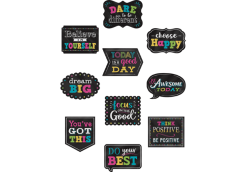 Teacher Created Resources Chalkboard Brights Positive Sayings
