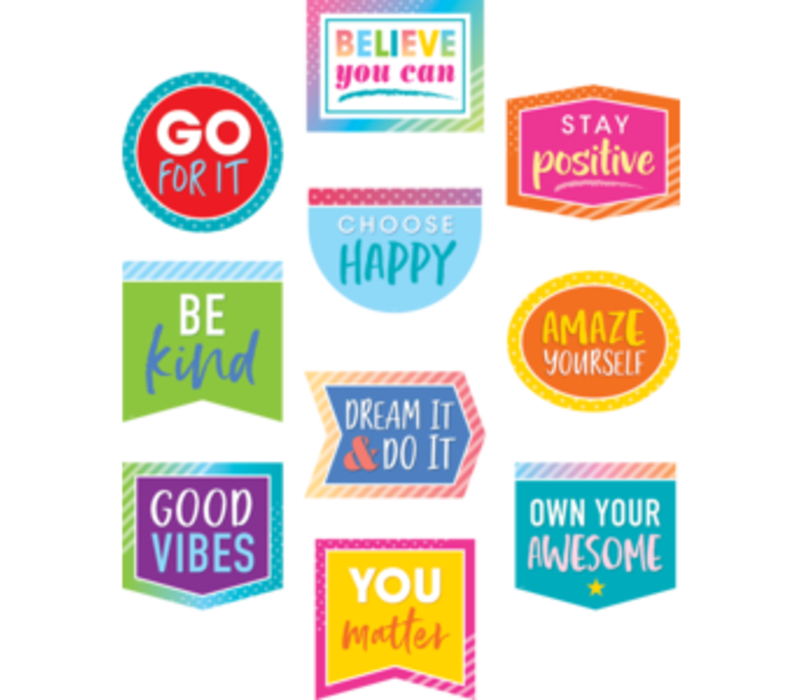 Colorful Vibes Positive Sayings *