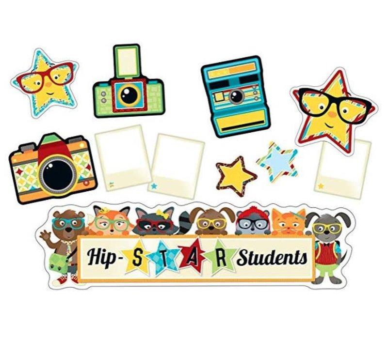 Hipster Hip-STAR Students Mini Bulletin Board Set