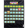 Carson Dellosa Deluxe Calendar Pocket Chart, Black