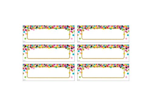 Teacher Created Resources Confetti Labels Magnetic Accents *