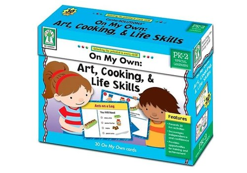 Carson Dellosa On My Own: Art, Cooking & Life Skills Boxed Activity Cards