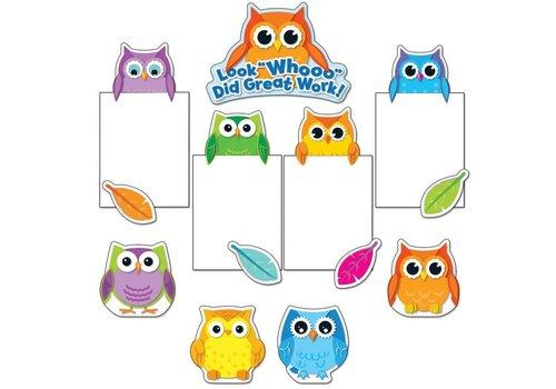 Carson Dellosa Colorful Owls Good Work Bulletin Board Set