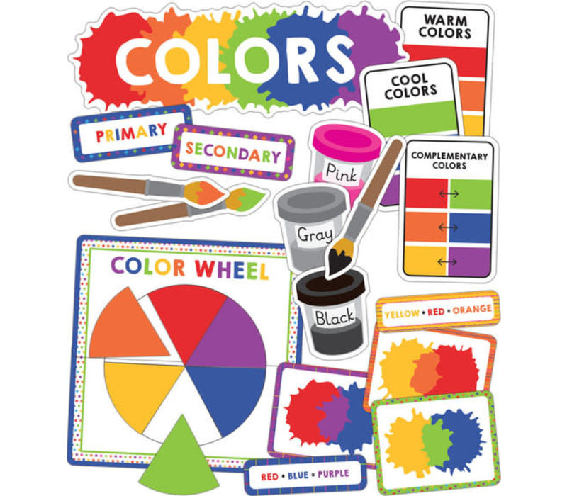 Colors Mini Bulletin Board Set