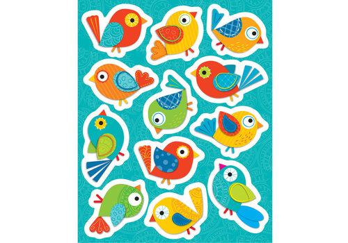 Carson Dellosa Boho Birds Shape Stickers *