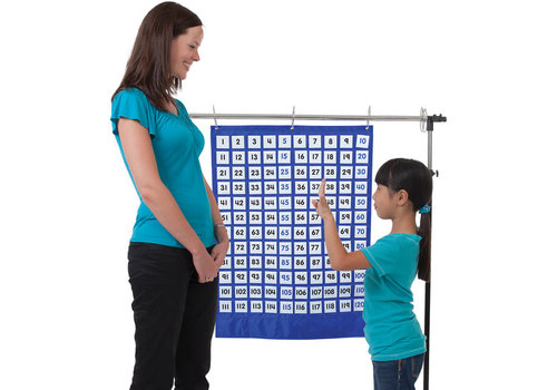 Carson Dellosa Numbers 1-120 Pocket Chart, Blue