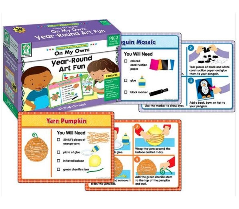 On My Own: Year-Round Art Fun Boxed Activity Cards