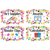 Teacher Created Resources Confetti Classroom Organizers - Supply Labels