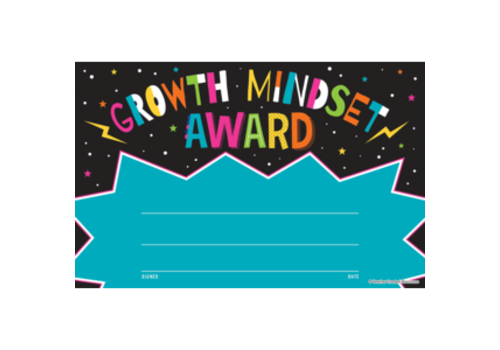 Teacher Created Resources Growth Mindset Award