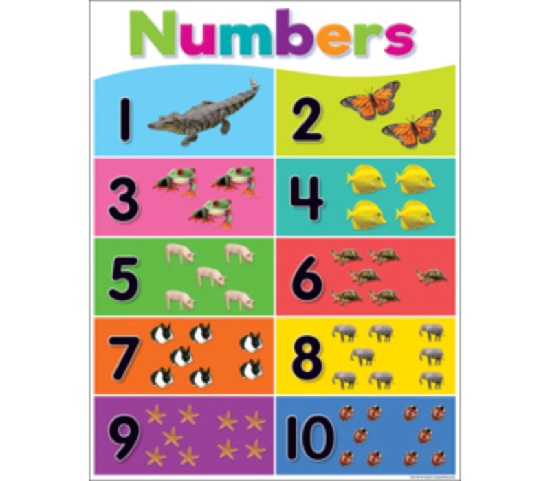 Numbers 1-10 Poster*