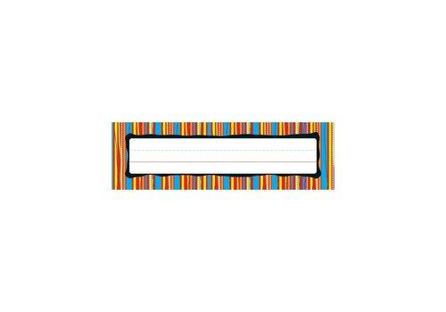 Carson Dellosa Colorful Stripes Nameplates