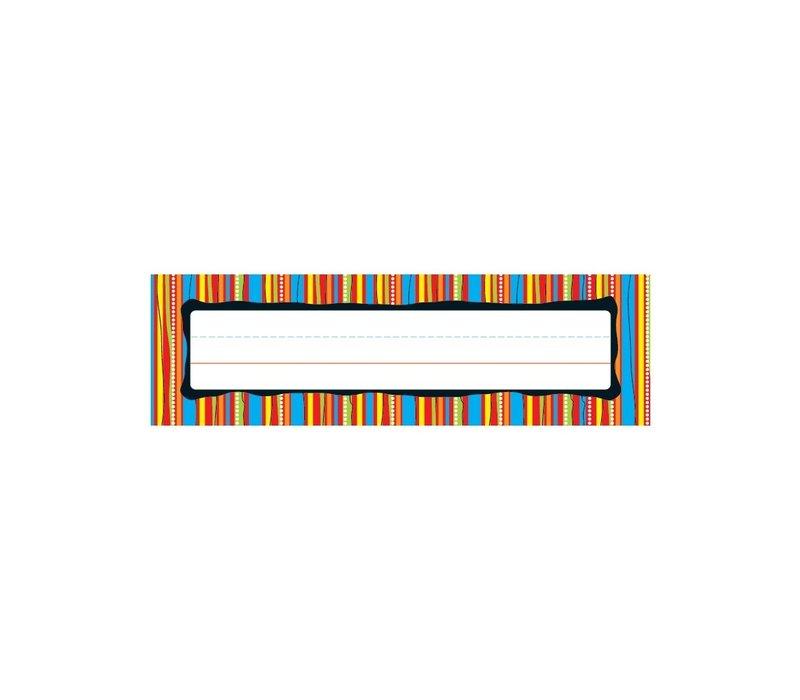 Colorful Stripes Nameplates