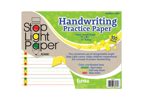 EUREKA Stoplight Handwriting Paper, 100 sheets
