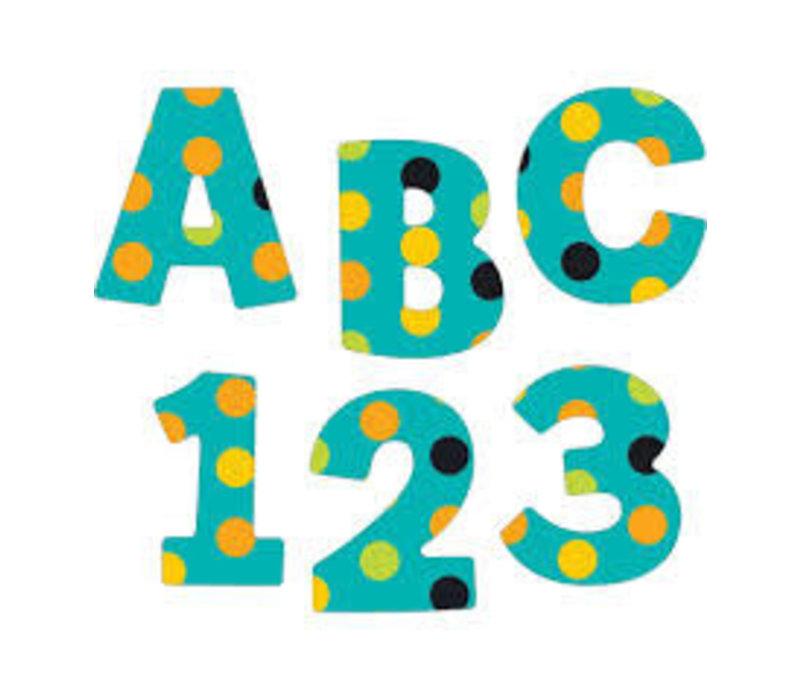 "Teal Appeal EZ Uppercase Letters 4"" *"