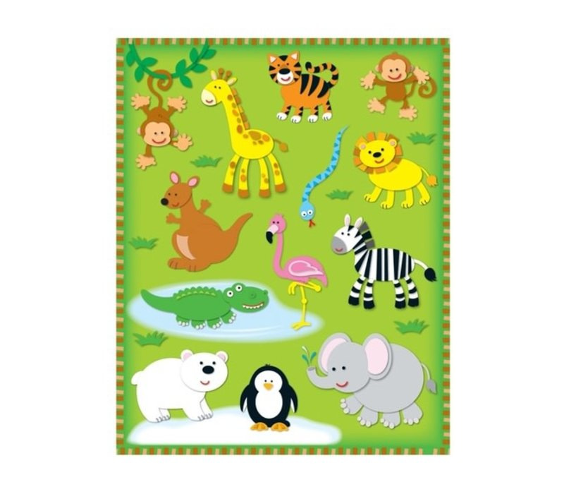 Zoo Shape Stickers