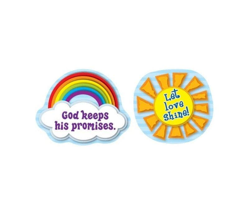 Let Love Shine Shape Stickers *