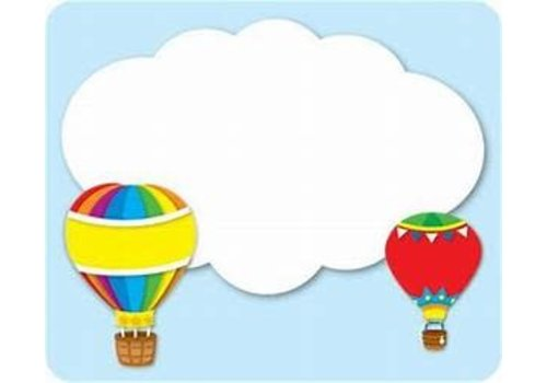 Carson Dellosa Hot Air Balloons Labels/Nametags