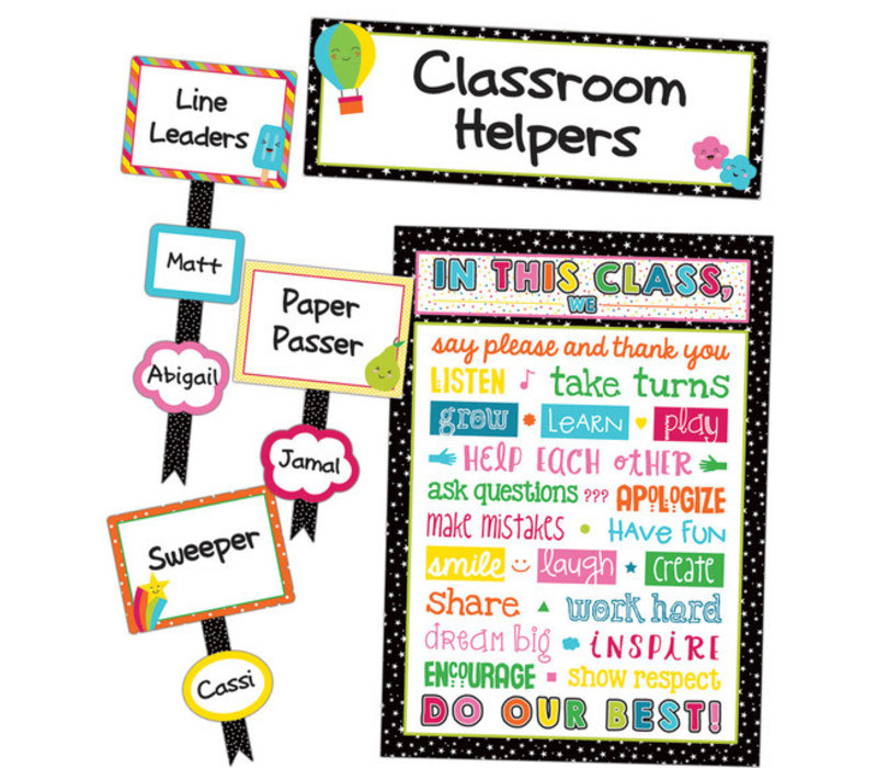 School Pop Classroom Management Bulletin Board Set