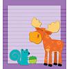 Carson Dellosa Moose & Friends Notepad * (D)