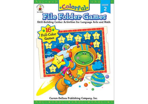 Carson Dellosa Colorful File Folder Games, Grade 2