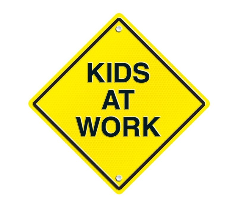 Kids at Work Two-Sided Decoration