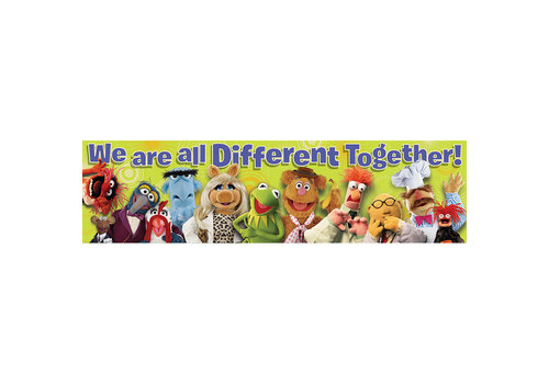 EUREKA Muppets We are all Different Banner