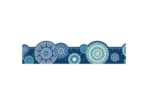 EUREKA Blue Harmony-Mandala Border Extra Wide