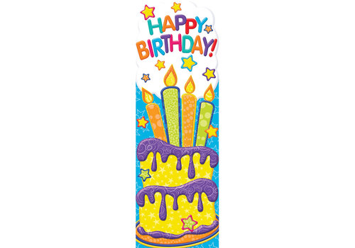 EUREKA Color My World - Happy Birthday Bookmarks