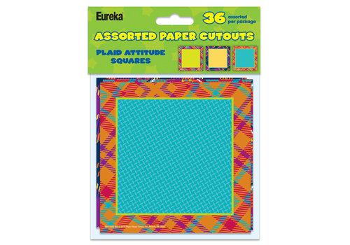 """EUREKA Plaid Attitude Squares Accents 6"""""""