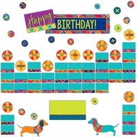 Plaid Attitude Class Birthday Mini Bulletin Board Set