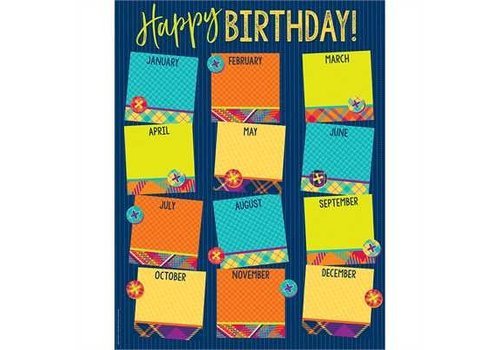 EUREKA Plaid Attitude Birthday Chart