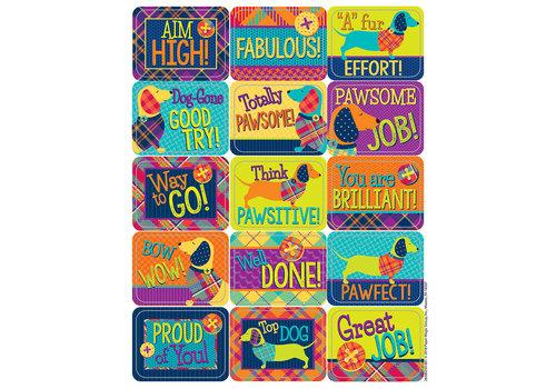 EUREKA Plaid Attitude Success Stickers