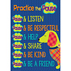 "EUREKA Plaid Attitude -Practice the Pause Poster 13x19"""