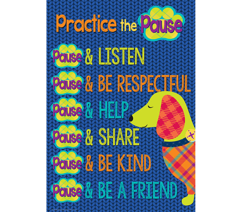Plaid Attitude -Practice the Pause Poster 13x19""