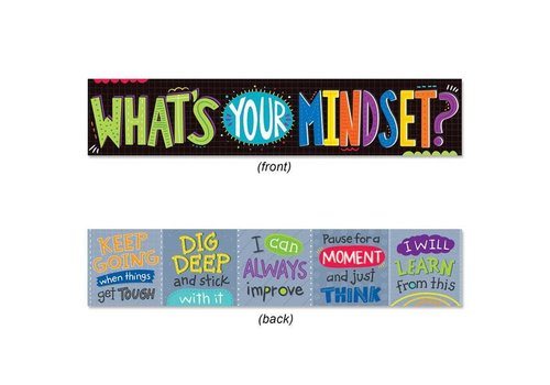 Creative Teaching Press WHAT'S YOUR MINDSET? BANNER*