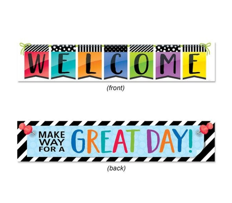 Bold & Bright Welcome Banner