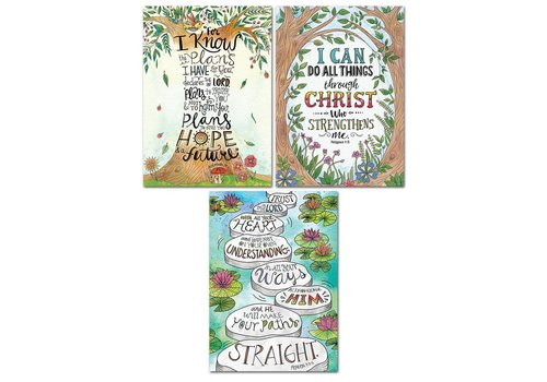 Creative Teaching Press Devotional Bible Verses Rejoice Poster 3-pack