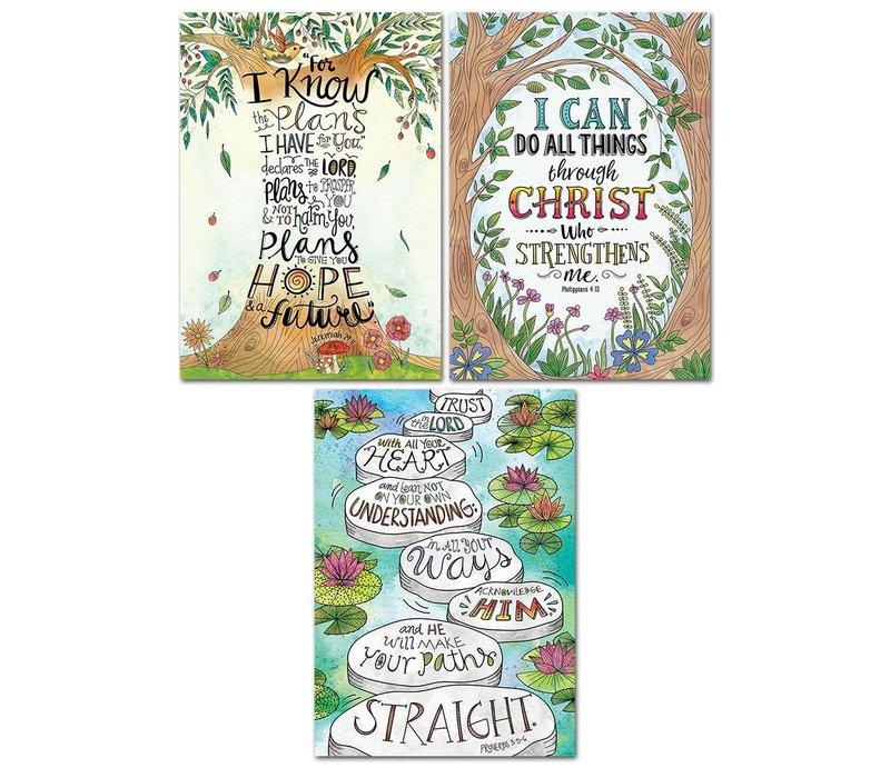 Devotional Bible Verses Rejoice Poster 3-pack