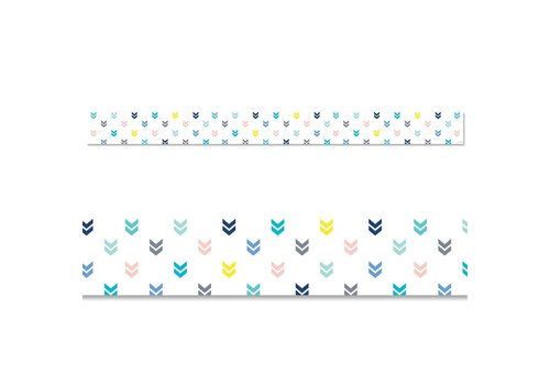 Creative Teaching Press Calm & Cool: Colorful Mini Chevrons Border