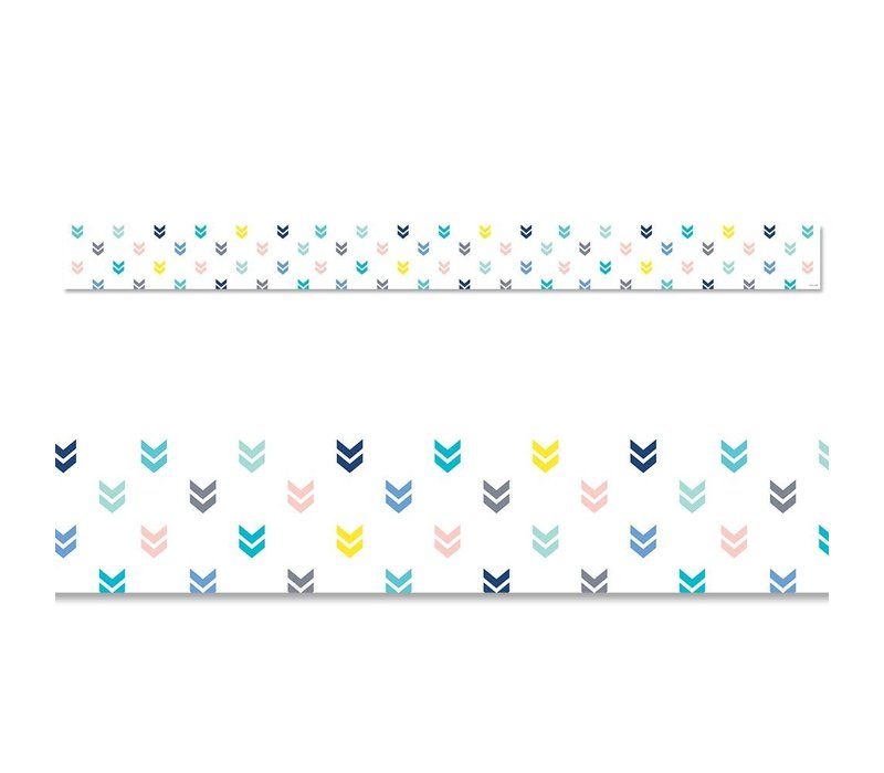 Calm & Cool: Colorful Mini Chevrons Border