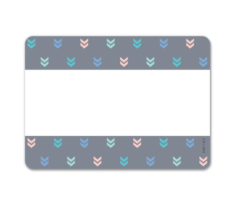 Calm & Cool Colorful Mini Chevrons Labels *