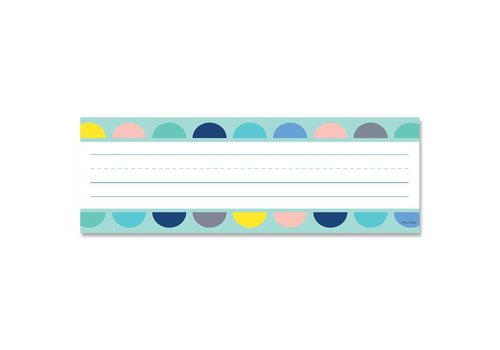 Creative Teaching Press Calm & Cool: Half-Dots on Turquoise Name Plates