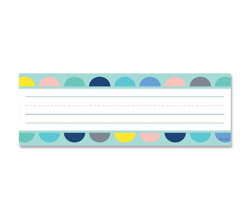 Calm & Cool: Half-Dots on Turquoise Name Plates *