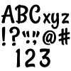 Creative Teaching Press Stylish Black Punch-Out Designer Letters *