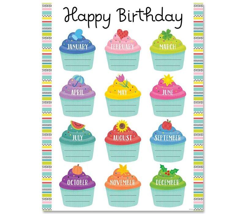 Color Pop Birthday Chart *