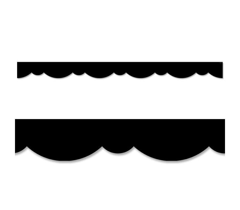 Black Stylish Scallops Border