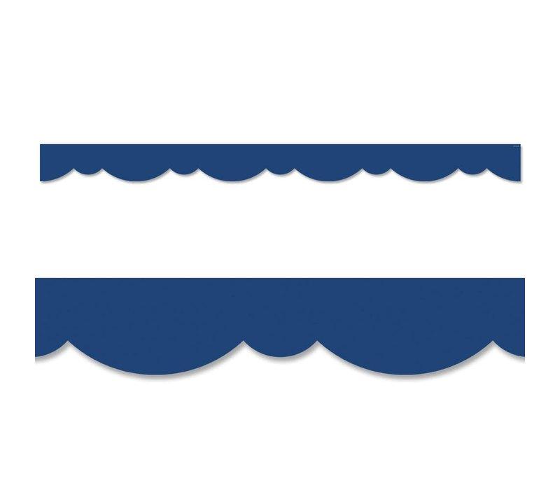Blue Stylish Scallops Border*