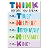 Creative Teaching Press Think before you speak... Poster